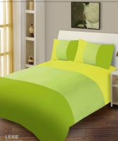 LIME GREEN COLOUR DUVET COVER MICROFIBER BEDDING SET